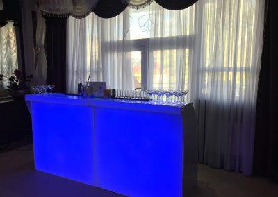 Модульная, светящаяся барная стойка 2.4 метра